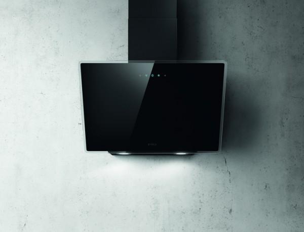 Kopffreihaube 60 cm breit, Schwarzes Glas incl. Aluminiumfilter