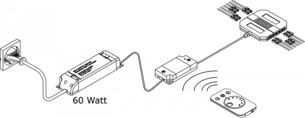 Emotion Startset, Fernbedienung, 60 Watt inkl. Fernbedienung, 60W Kon.