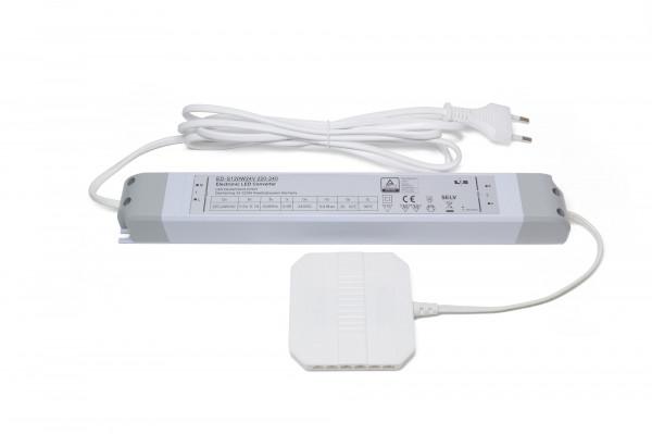 LED Konverter 230V/24V 120 W 30 mm 12-fach Verteiler 2 m. Zuleitung