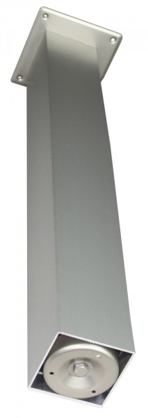 Stützfuß Vierkant groß 870 mm 100 x 100 mm, Edelstahloptik