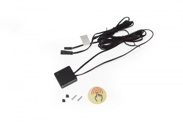LED CAP Sensorschalter 12 V 36 Watt 1,8/1,8 m 35x35x7 mm aufschr. Schwarz