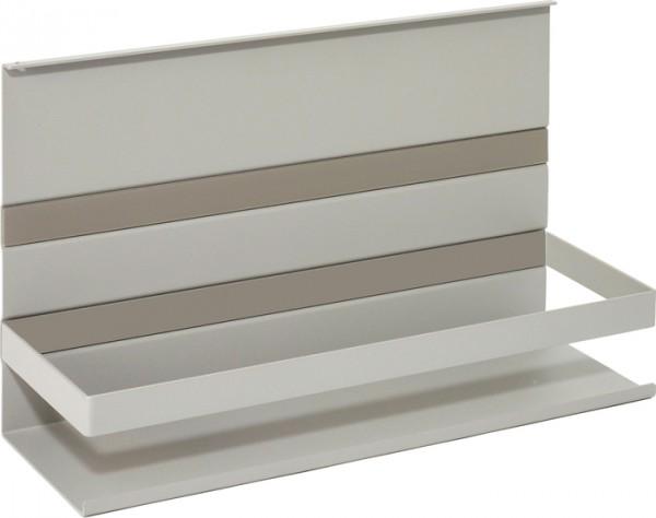 Universalablage m. Rahmen, Linero MosaiQ, grau B350 x T110 x H200 titangrau