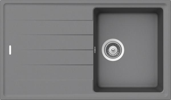 Granitspüle S 780, light gray mit Excentergarnitur und Siebkorbventil