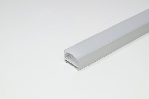 Abdeckprofil für Profil Porto 1/3/5 Kst. Opal 3000 mm