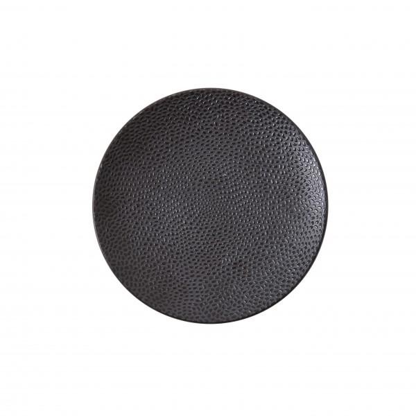 """TC Cobble Black Matte Plate 6.5"""" (16.5cm)"""