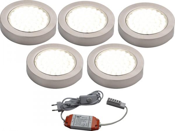 LED ARI- Aufbaustrahlerset 5er mit Konverter, 2m Zuleitung, NW