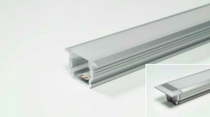 LED Leuchtenprofil Manila IV 22x14 Einbau Aluminium EV1 L:2500 mm