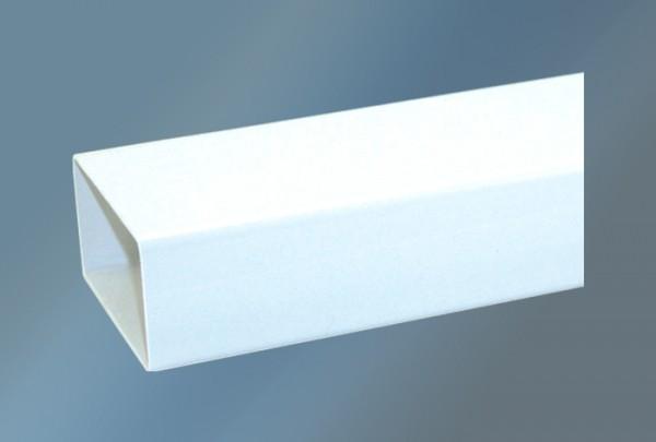 Vierkantrohr 100 cm ohne Kupplung Ø 150 mm, weiß