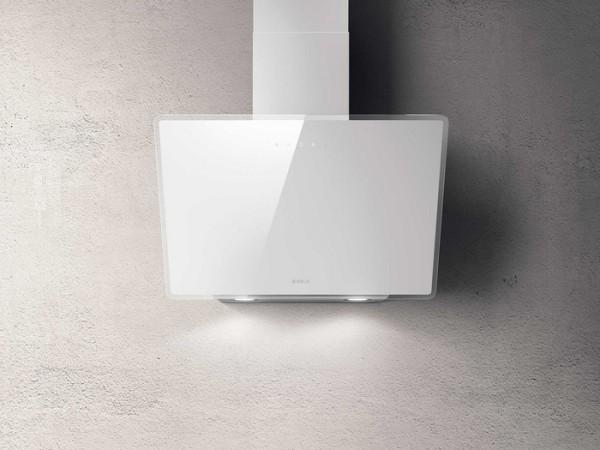 Kopffreihaube 60 cm breit, Weises Glas incl. Aluminiumfilter