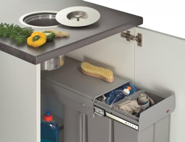 Ergo-Master Arbeitsplatten-Abfallsystem 11 L Abfalleimer Mülleimer Abfallsammler
