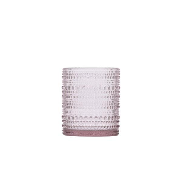 D&V Jupiter Pink DOF Glass 10oz (.30L) 7.5x9.5cm
