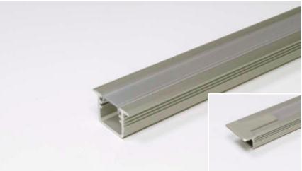 LED Leuchtenprofil Manila 20x15 Einbau Aluminium EV1 L:2500 mm-Copy