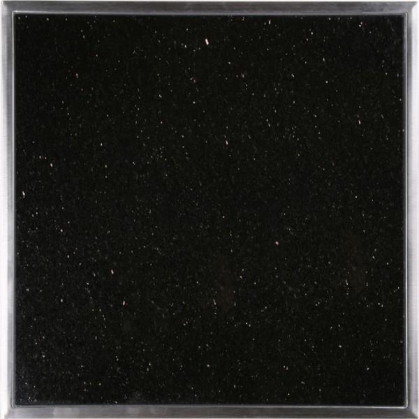 Granitfeld mit Edelstahlrahmen 250 x 250mm, Galaxy Star