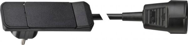 Plug, Hebel/Auswurfmechanik, schwarz Anschlusskabel 1,5 m