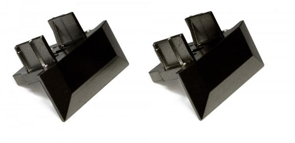 Endkappenset für Manila IV mit Kabeldurchgang (2 Stück) schwarz