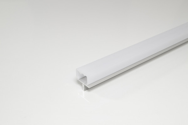 Stirnkantenprofil f. Mittelseite 19 mm EV1 opal 3000 mm