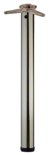 4er SET Stützfuß Ø 60 mm Höhe 705 mm, edelstahloptik