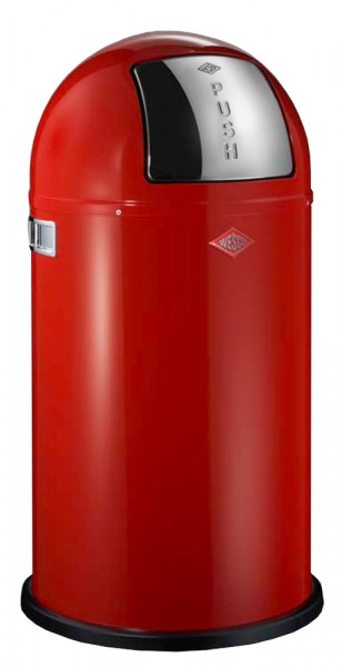 WESCO Abfallsammler Abfalleimer Mülleimer PUSHBOY ROT 50L, B 400mm, H 755mm