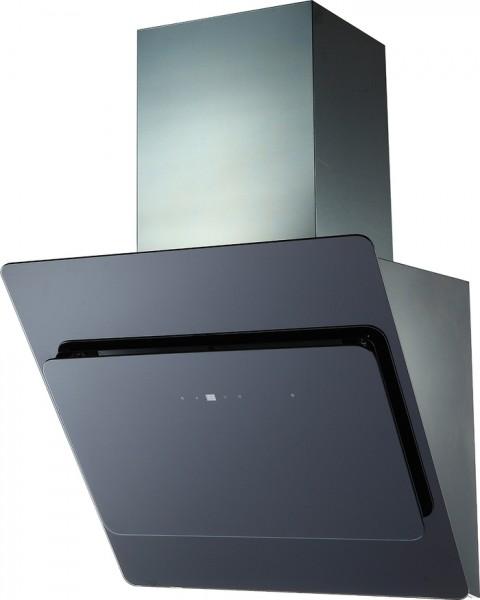 Glashaube 60cm, Schwarz, incl. Schacht Touchsensor incl. FB