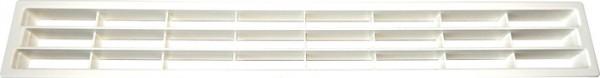 Lüftungsgitter aus Kunststoff Länge 458,5 mm, weiß