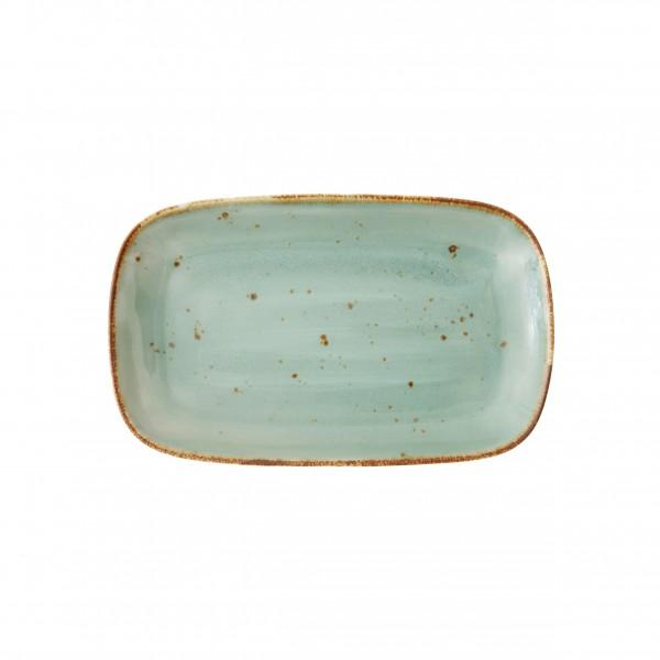 """TC Erthe Celadon Rect.Coupe Platter 11x7"""" (28x17.5cm)"""