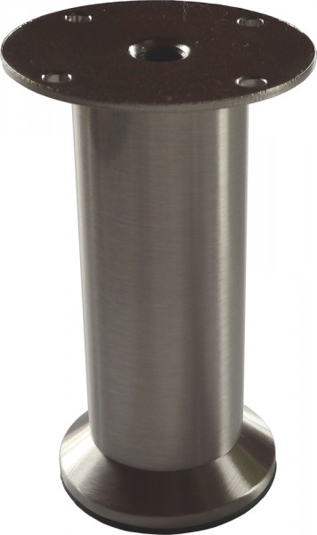 Möbelfuß Metall Edelstahloptik Belastbar bis 100 Kg Höhenverstellbar 100 - 120 mm