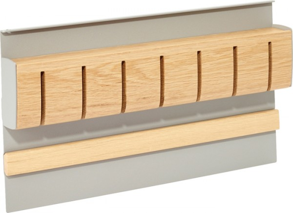 Magnet-Messerhalter Linero MosaiQ, Holz B350 x T45 x H200 titangrau