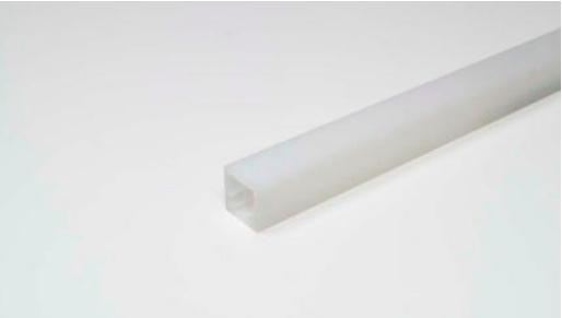 LED Leuchtenprofil Fineline 14x14 mm mit DKB Kst.opal L:2000 mm