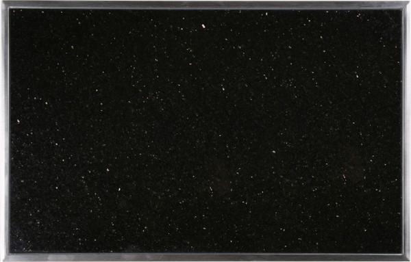 Granitfeld mit Edelstahlrahmen 510 x 325mm, Galaxy Star