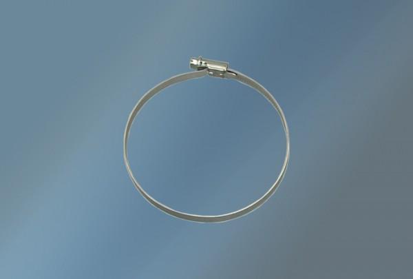 Schlauchklemme Durchmesser 140 -160 mm verzinkt rund mit Stellschraube