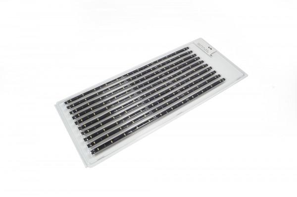 10 er Pack LED Strip Flex 12 V Silikon 8 mm 0,8 W 335 mm WW schwarz
