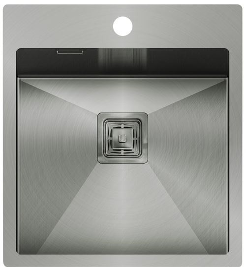 Edelstahl- Einbauspüle 510x450x200 in silber-grau