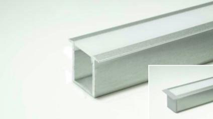 LED Leuchtenprofil Prag 24x19 Einbau Aluminium EV1 L:3000 mm