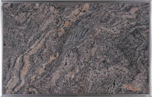 Granitfeld mit Edelstahlrahmen 510 x 325mm, Paradiso