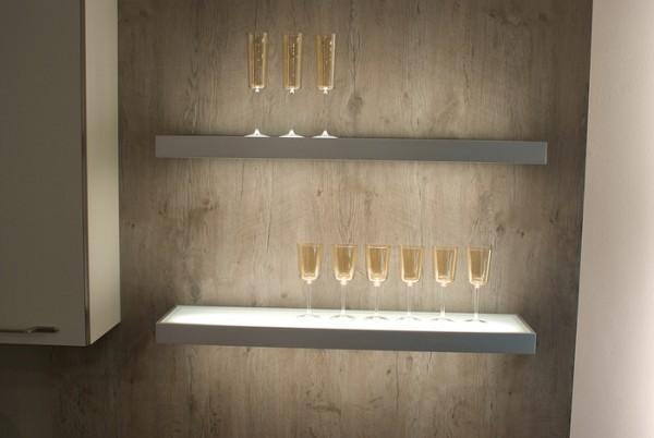 Glasbodenleuchte 1200 mm, 18 Watt LED Edelstahl