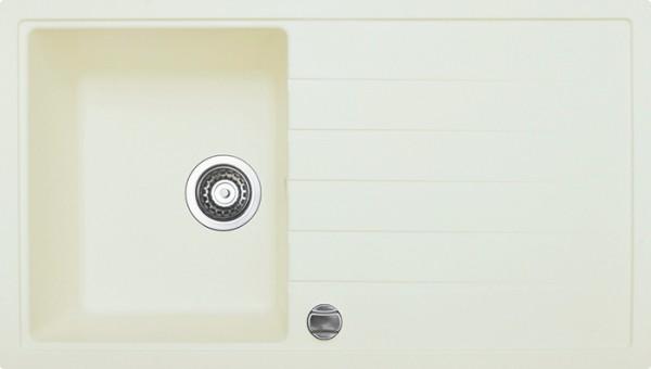 Einbauspüle V 860, crema mit Ablage ab 45er Unterschr m. Excenter