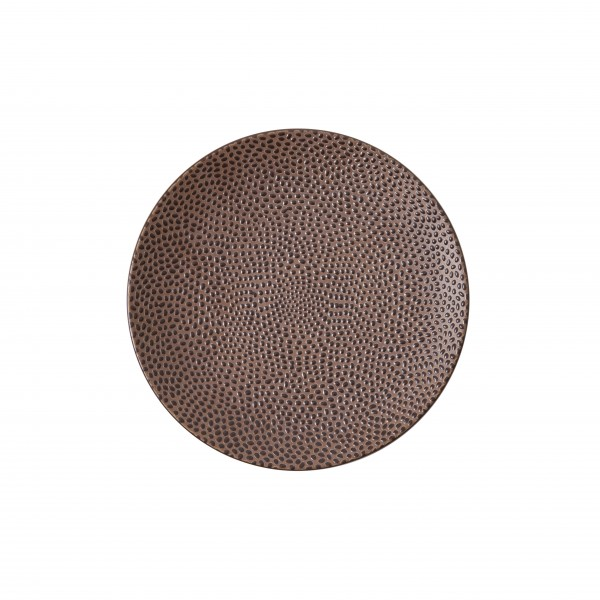 "TC Cobble Brown Matte Plate 6.5"" (16.5cm)"