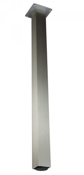 Stützfuß Vierkant klein 1100 mm 50 x 50 mm, Edelstahloptik