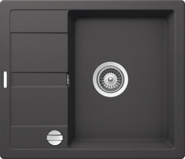 Granitspüle S 580, gray mit Excentergarnitur und Siebkorbventil